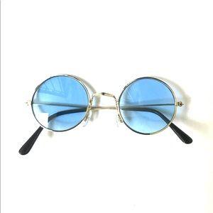 60s 70s vintage hippie blue circle sunglasses